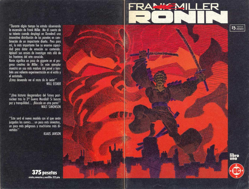 Cover for Ronin (Zinco, 1987 series) #1