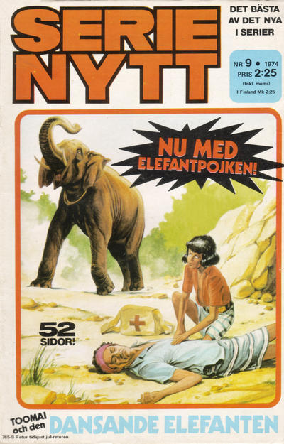 Cover for Serie-nytt [delas?] (Semic, 1970 series) #9/1974