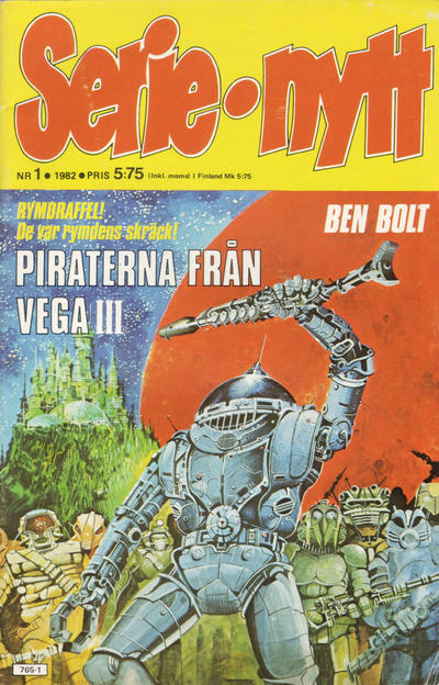 Cover for Serie-nytt [delas?] (Semic, 1970 series) #1/1982