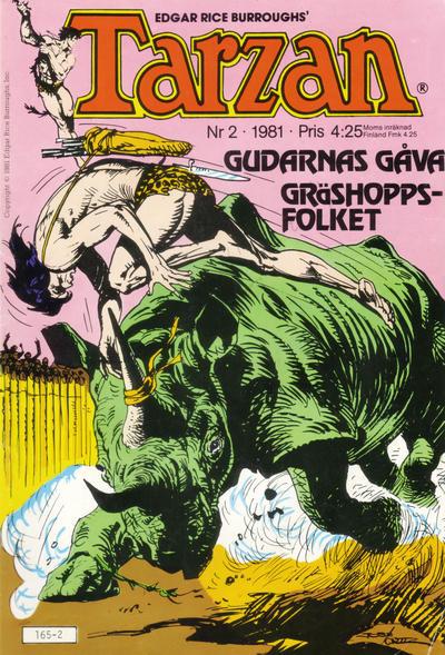 Cover for Tarzan (Atlantic Förlags AB, 1977 series) #2/1981