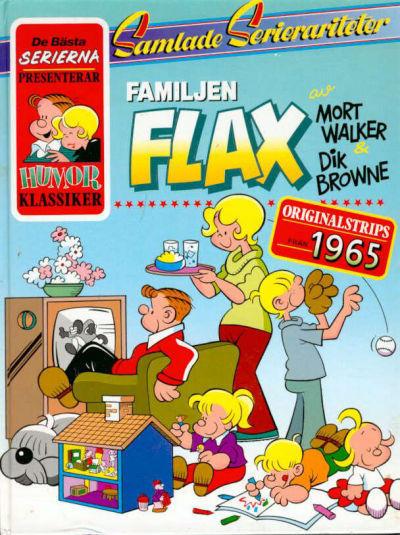 Cover for De bästa serierna (Semic, 1986 series) #1987, Familjen Flax