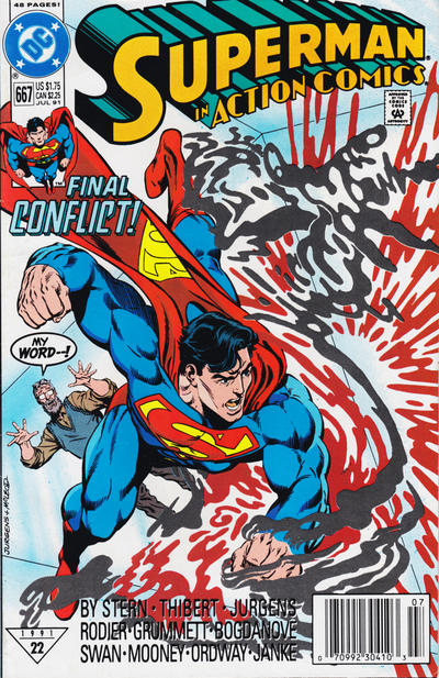 Cover for Action Comics (DC, 1938 series) #667 [Direct]