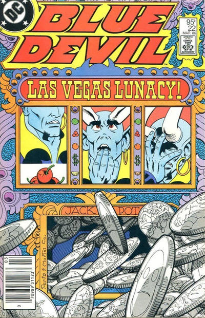 Cover for Blue Devil (DC, 1984 series) #22 [Canadian Newsstand]