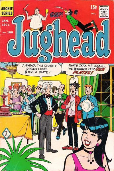 Cover for Jughead (Archie, 1965 series) #188