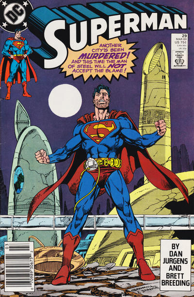 Cover for Superman (DC, 1987 series) #29 [direct-sales]