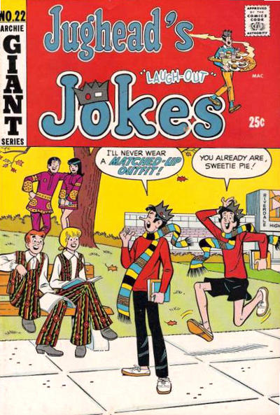 Cover for Jughead's Jokes (Archie, 1967 series) #22