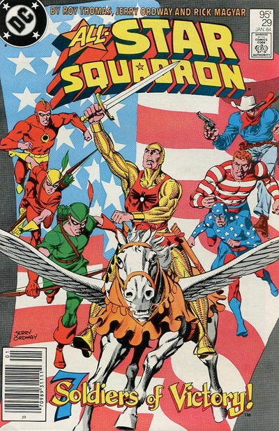 Cover for All-Star Squadron (DC, 1981 series) #29 [Direct]