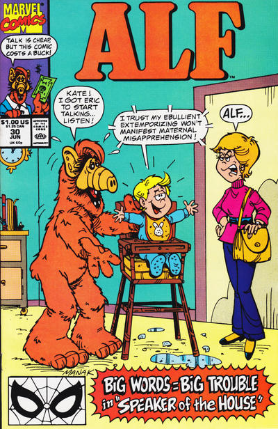 Cover for ALF (Marvel, 1988 series) #30 [Direct]