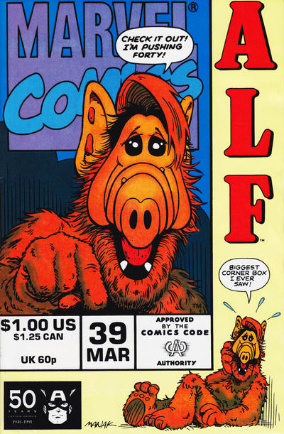 Cover for ALF (Marvel, 1988 series) #39 [Direct Edition]