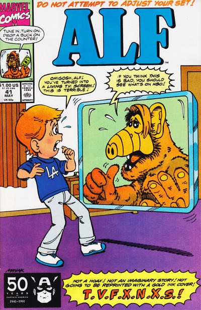 Cover for ALF (Marvel, 1988 series) #41 [Newsstand Edition]