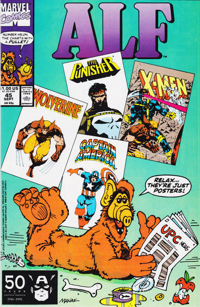 Cover for ALF (Marvel, 1988 series) #45 [Direct Edition]