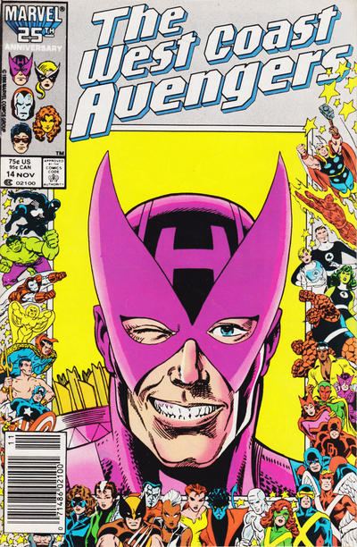 Cover for West Coast Avengers (Marvel, 1985 series) #14 [Newsstand Edition]