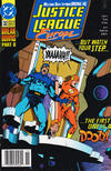 Cover for Justice League Europe (DC, 1989 series) #32 [Newsstand]
