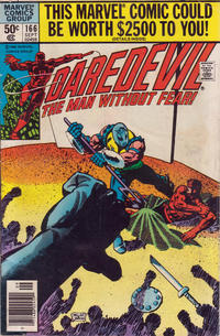 Cover for Daredevil (Marvel, 1964 series) #166 [Direct Edition]