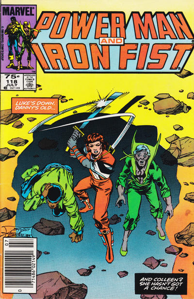 Cover for Power Man and Iron Fist (Marvel, 1981 series) #118 [Canadian newsstand edition]