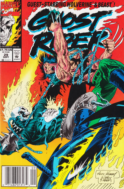 Cover for Ghost Rider (Marvel, 1990 series) #29 [Direct Edition]