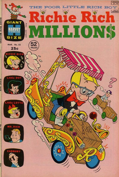 Cover for Richie Rich Millions (Harvey, 1961 series) #52
