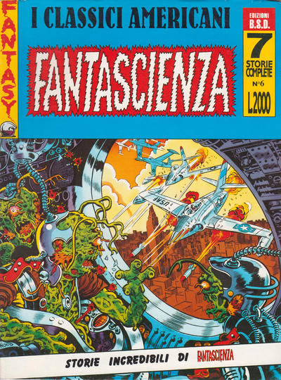 Cover for I Classici Americani Fantascienza Horror (Edizioni B.S.D. s.r.l., 1991 series) #6