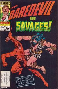 Cover Thumbnail for Daredevil (Marvel, 1964 series) #202 [Direct]