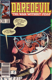 Cover Thumbnail for Daredevil (Marvel, 1964 series) #219 [Newsstand Edition]