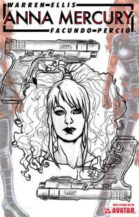 Cover Thumbnail for Anna Mercury (Avatar Press, 2008 series) #5 [Design Sketch]