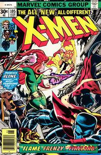 Cover Thumbnail for The X-Men (Marvel, 1963 series) #105 [30¢]