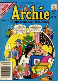 Cover Thumbnail for Archie Comics Digest (Archie, 1973 series) #70 [$1.25]