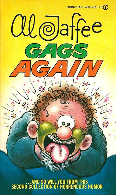 Cover for Al Jaffee Gags Again (New American Library, 1975 series) #Y6652