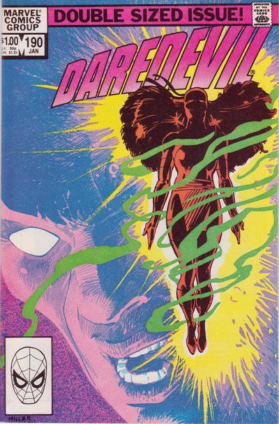 Cover for Daredevil (Marvel, 1964 series) #190 [Newsstand Edition]