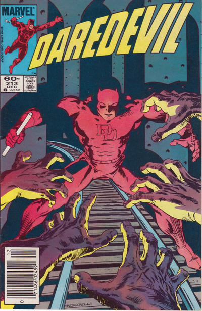 Cover for Daredevil (Marvel, 1964 series) #213 [Direct Edition]