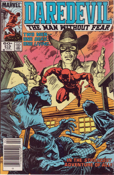 Cover for Daredevil (Marvel, 1964 series) #215 [Newsstand Edition]