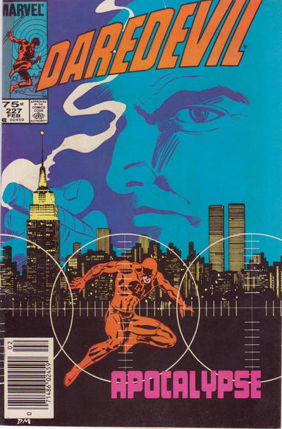 Cover for Daredevil (Marvel, 1964 series) #227 [Newsstand Edition]