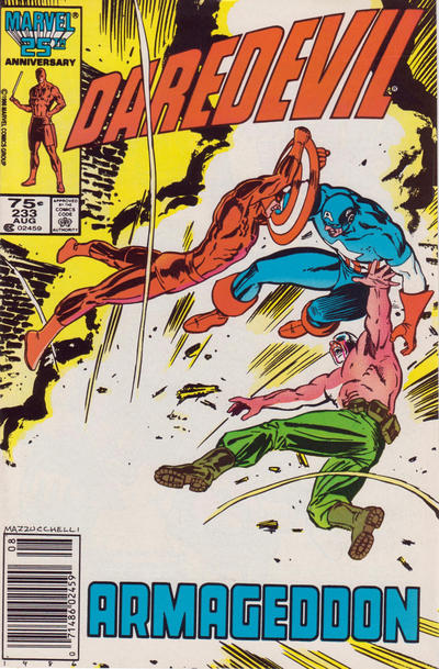 Cover for Daredevil (Marvel, 1964 series) #233 [Newsstand Edition]