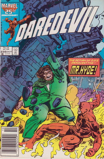 Cover for Daredevil (Marvel, 1964 series) #235 [Newsstand Edition]