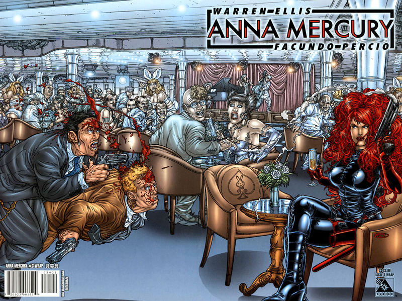 Cover for Anna Mercury (Avatar Press, 2008 series) #3 [Wraparound Juan Jose Ryp]