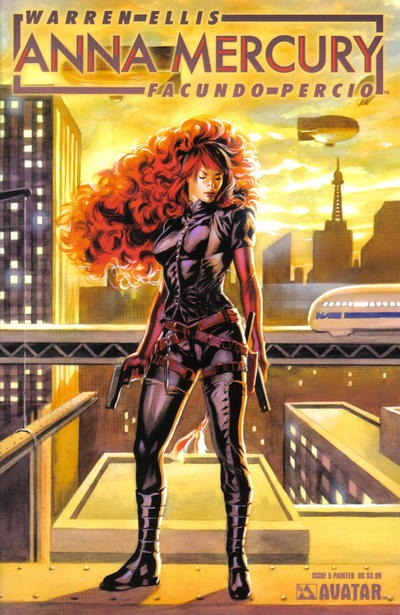 Cover for Anna Mercury (Avatar Press, 2008 series) #5 [Painted Felipe Massafera]