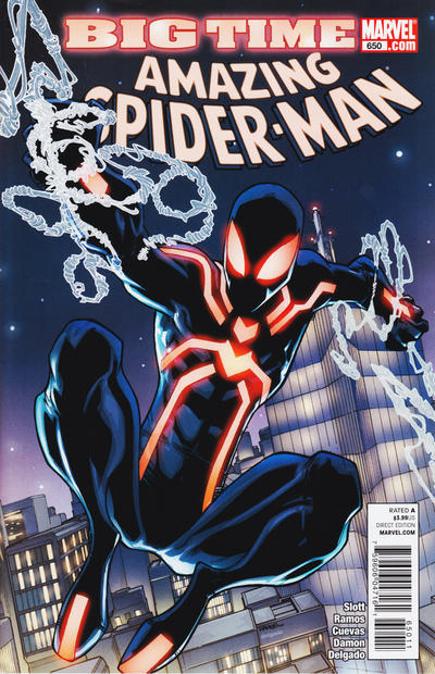 Cover for The Amazing Spider-Man (Marvel, 1999 series) #650 [2nd Printing variant]