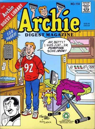Cover for Archie Comics Digest (Archie, 1973 series) #114 [Direct]