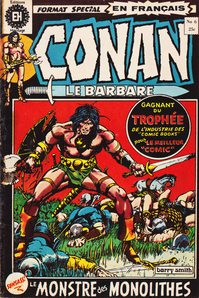 Cover for Conan le Barbare (Editions Héritage, 1972 series) #6