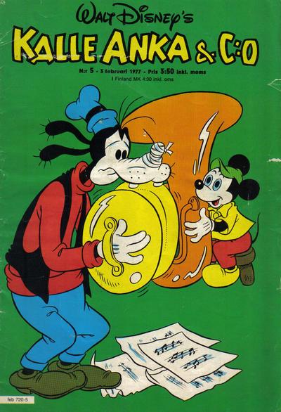 Cover for Kalle Anka & C:o (Hemmets Journal, 1957 series) #5/1977