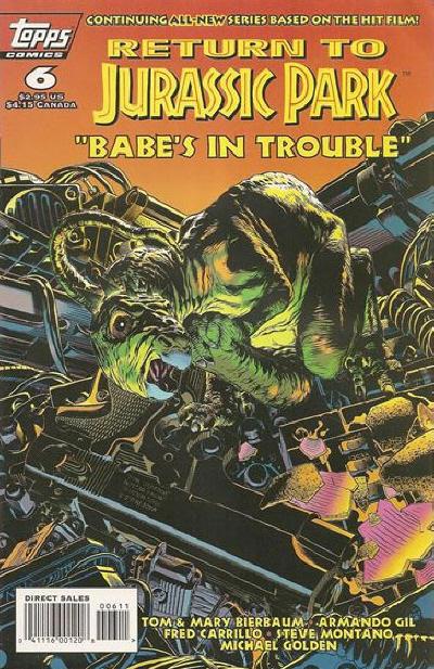 Cover for Return to Jurassic Park (Topps, 1995 series) #6
