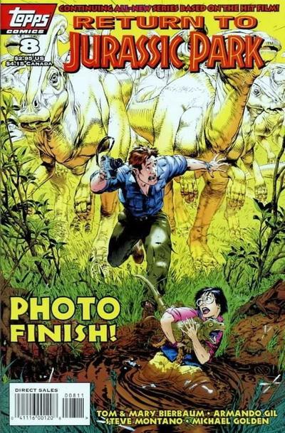 Cover for Return to Jurassic Park (Topps, 1995 series) #8