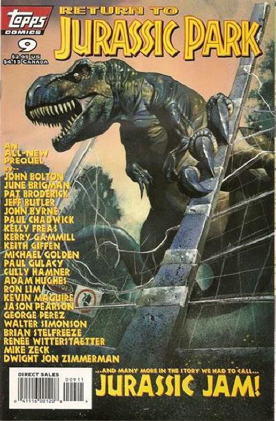 Cover for Return to Jurassic Park (Topps, 1995 series) #9
