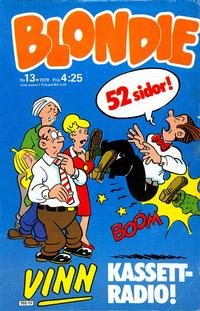 Cover Thumbnail for Blondie (Semic, 1963 series) #13/1979