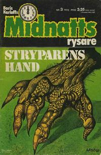 Cover Thumbnail for Boris Karloffs midnattsrysare (Semic, 1972 series) #3/1973