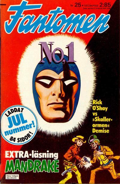 Cover for Fantomen (Semic, 1963 series) #25/1973