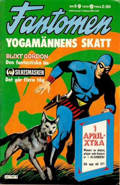 Cover for Fantomen (Semic, 1963 series) #8/1975