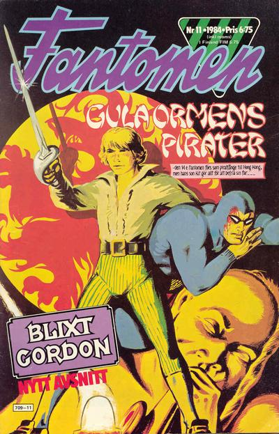 Cover for Fantomen (Semic, 1963 series) #11/1984