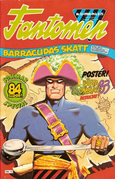 Cover for Fantomen (Semic, 1963 series) #13/1984