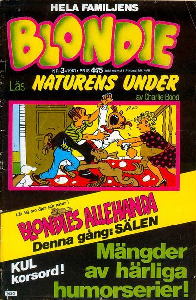 Cover for Blondie (Semic, 1963 series) #3/1981